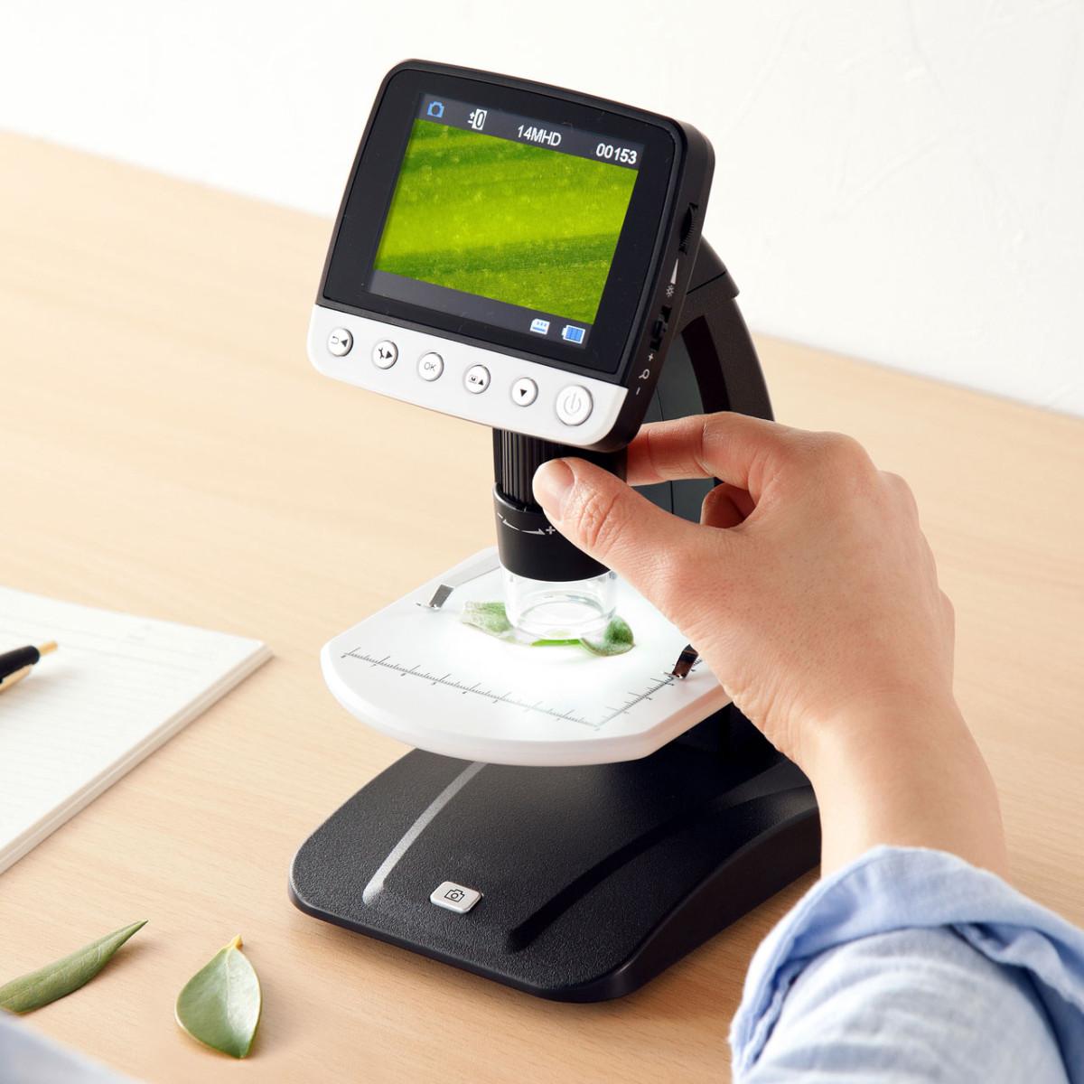 [LPE-06BK] デジタル顕微鏡 光学ズーム最大500倍