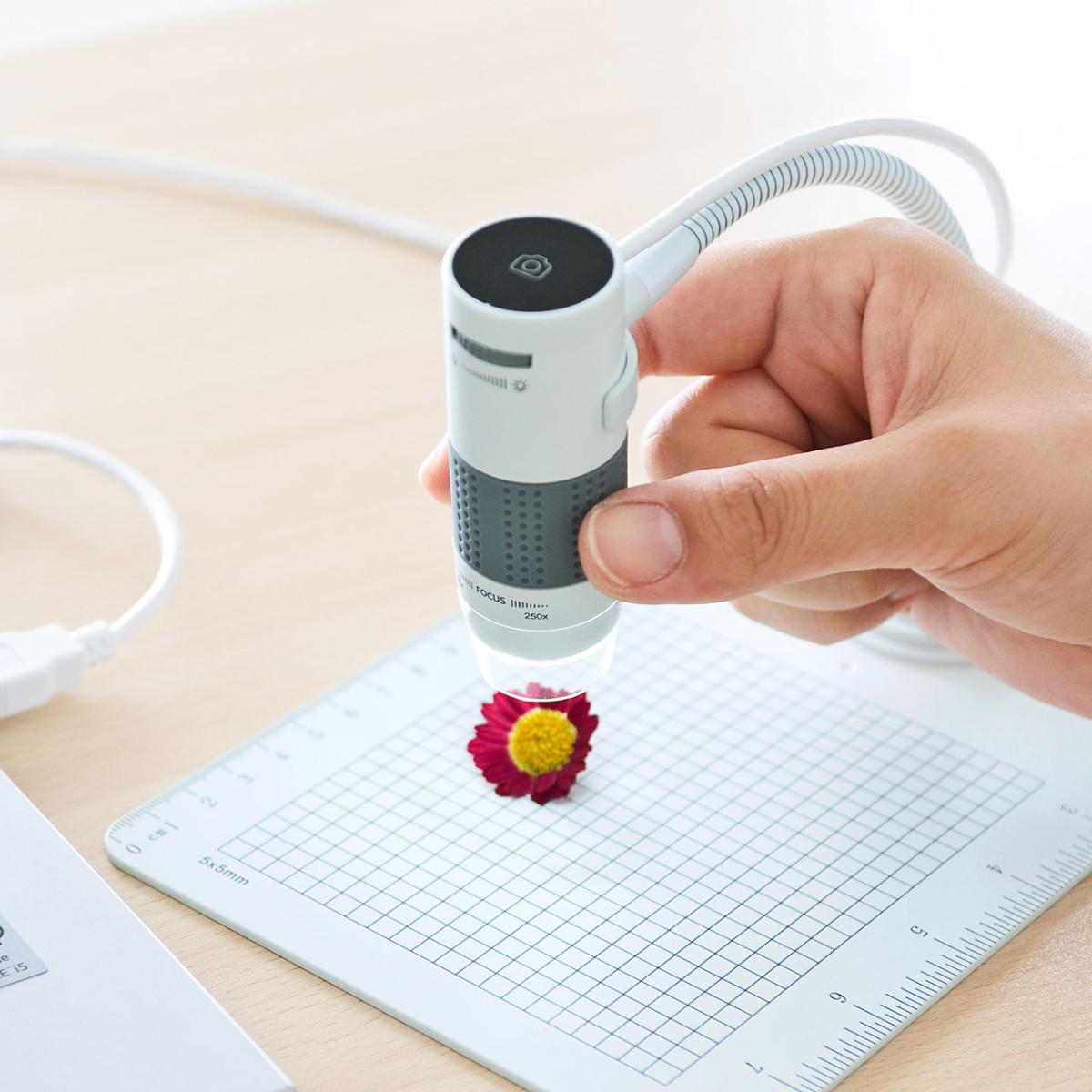 [LPE-07W] USB顕微鏡 光学ズーム最大250倍