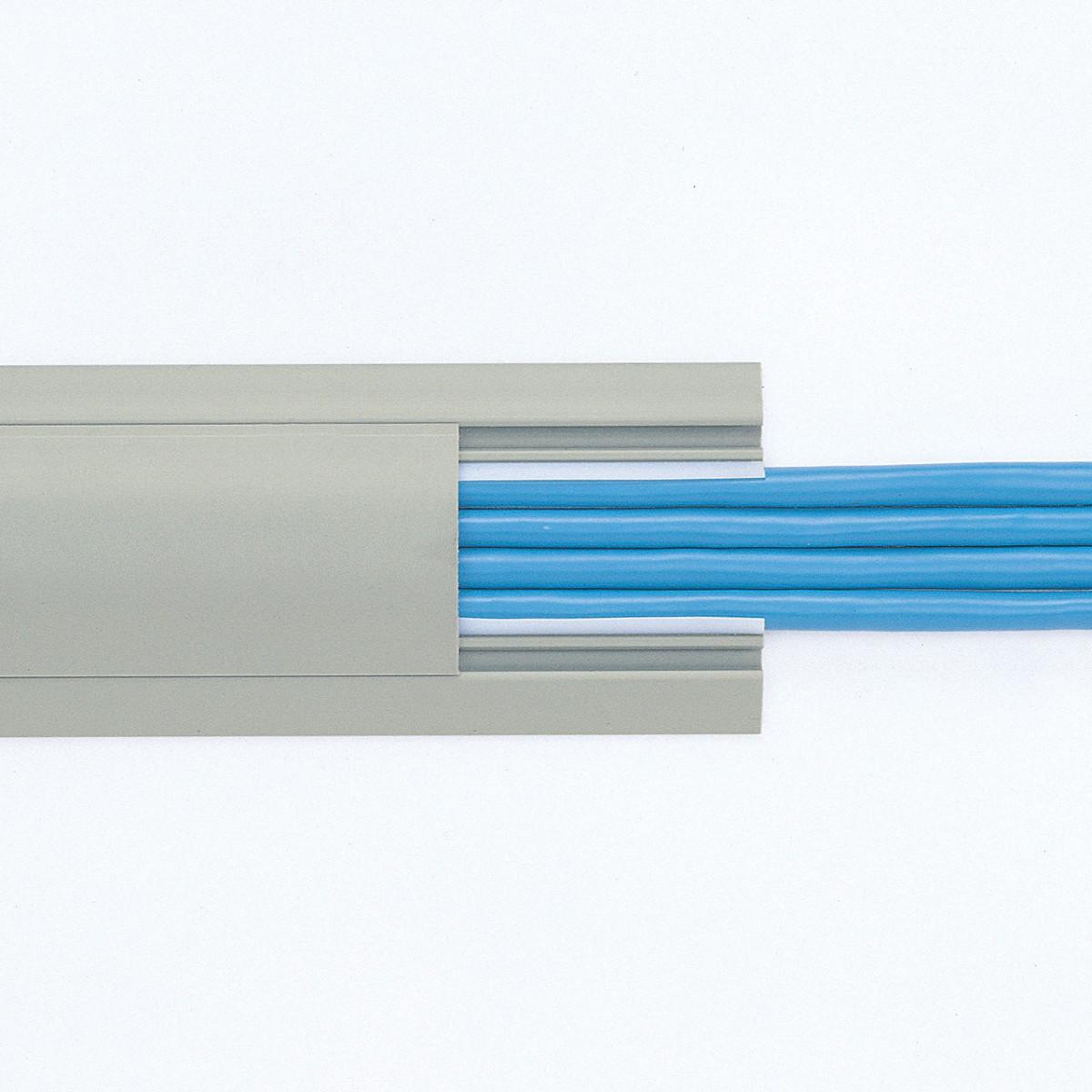 [CA-R50GY2] 【代引き不可】ケーブルカバー(グレー)W50xD2000mm
