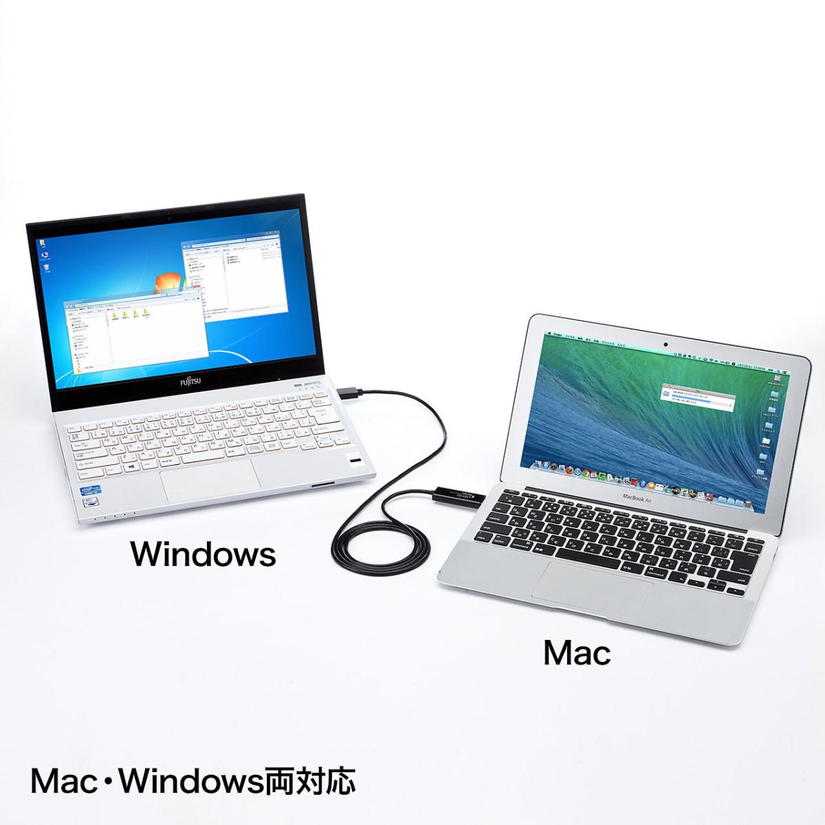 [KB-USB-LINK4] 【代引き不可】ドラッグ&ドロップ対応USB3.0リンクケーブル(Mac/Windows対応)