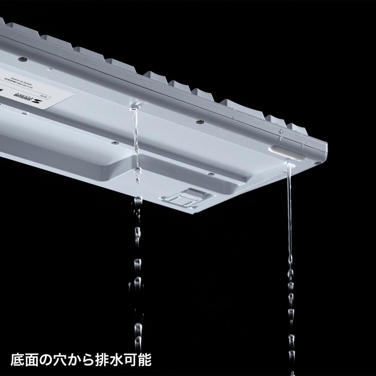 [SKB-BS6W] 日本語109キーボード 抗菌防水防塵タイプ ホワイト