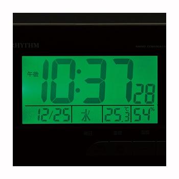 [8RZ165SR06] 電波めざまし時計 フィットウェーブD165 濃茶