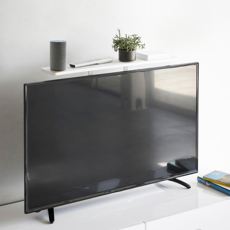 [04270-5R2] smart スマート テレビ上ラック ホワイト 4270 収納 ハードディスク HDD ルーター ゲームコントローラ リモコン 棚 省スペース VESA