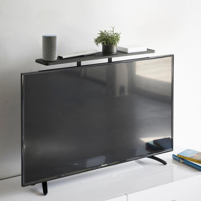 [04271-5R2] smart スマート テレビ上ラック ブラック 4271 収納 ハードディスク HDD ルーター ゲームコントローラ リモコン 棚 省スペース VESA
