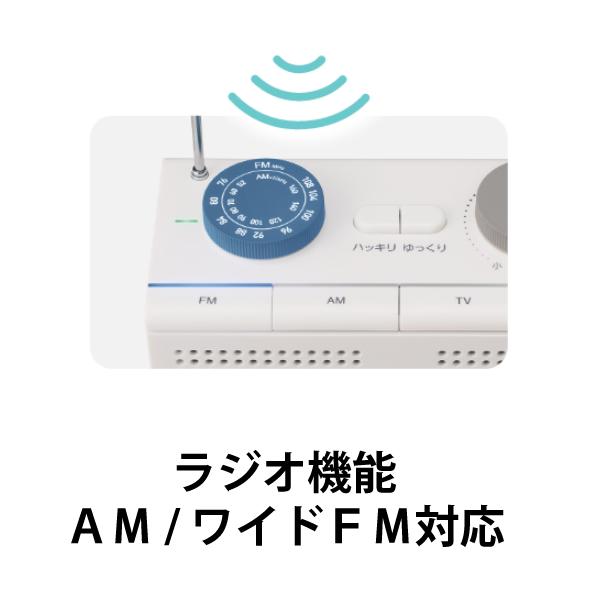 [AM20WH] arema お手元スピーカー (ラジオ付き)