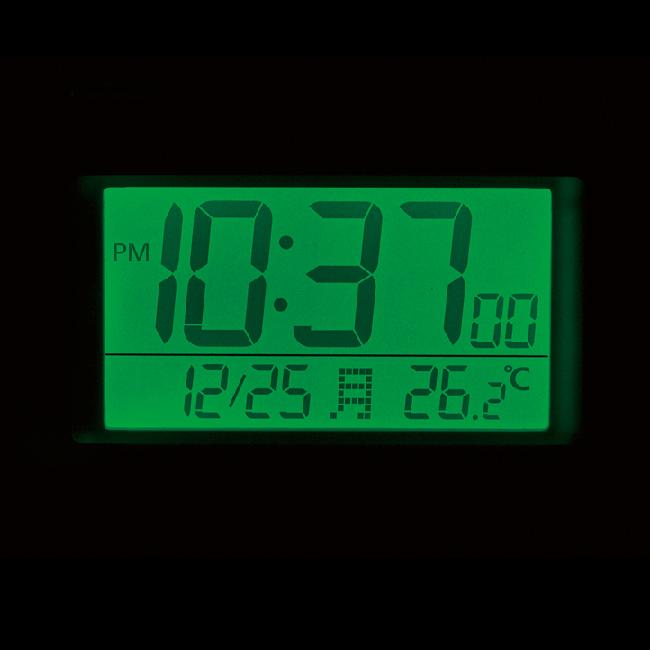 [8RZ192SR02] 電波めざまし時計(大音量) フィットウェーブバトル100 黒