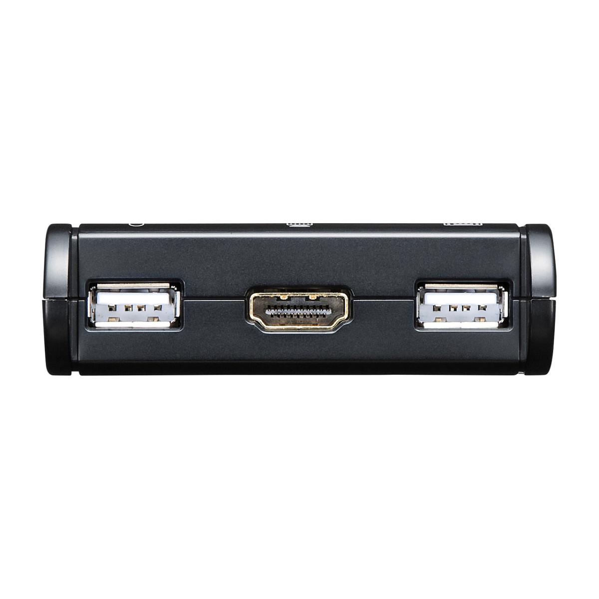 [SW-KVM2WHU] HDMI対応手元スイッチ付きパソコン自動切替器(2:1)