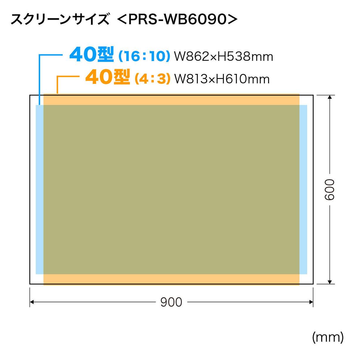 [PRS-WB6090] プロジェクタースクリーン(40型相当、マグネット式)