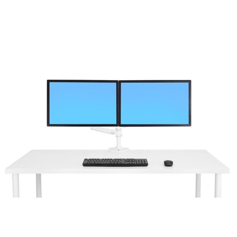 [45-492-216] LXデュアル デスク マウント アーム スタッキング (ホワイト)