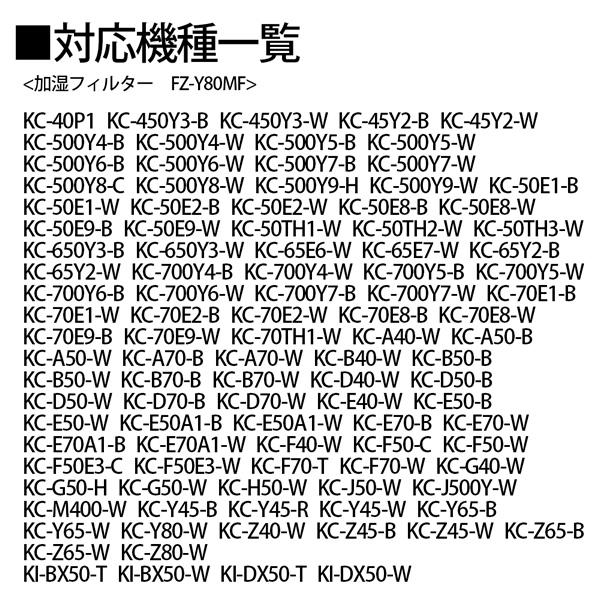 [FZ-Y80MF] 加湿空気清浄機用 加湿フィルター (フィルター枠なし)★