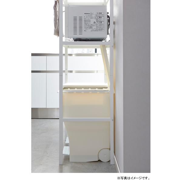 [02859-5R2] tower タワー ゴミ箱上ラック ホワイト 2859 収納 棚 電子レンジ オーブントースター コーヒーメーカー 白★