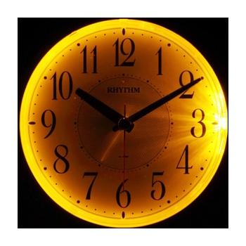 [8REA28SR05] フェイス28 緑メタリック色 リング発光電子音クオ-ツ目覚まし時計