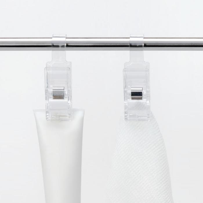 [4941860123118] Hanging Clip 2P クリア 引っ掛けて使えるハンギングクリップ