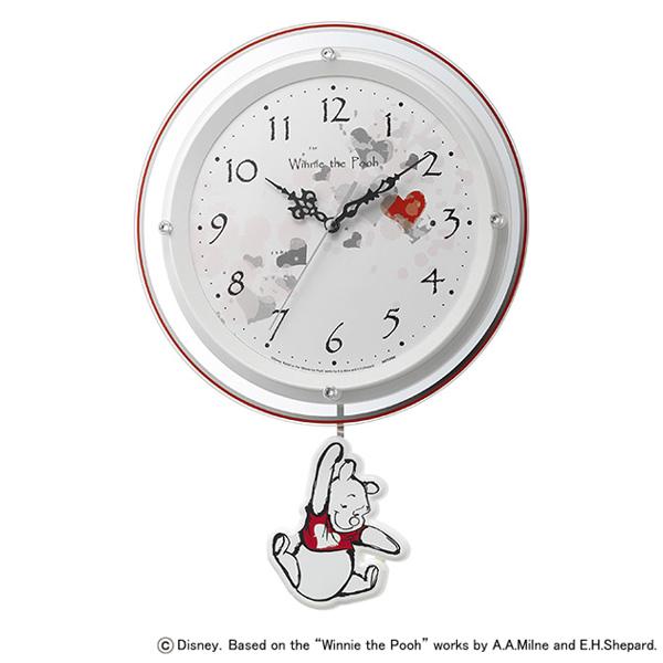 [8MX407MC03] 振り子時計 くまのプーさん