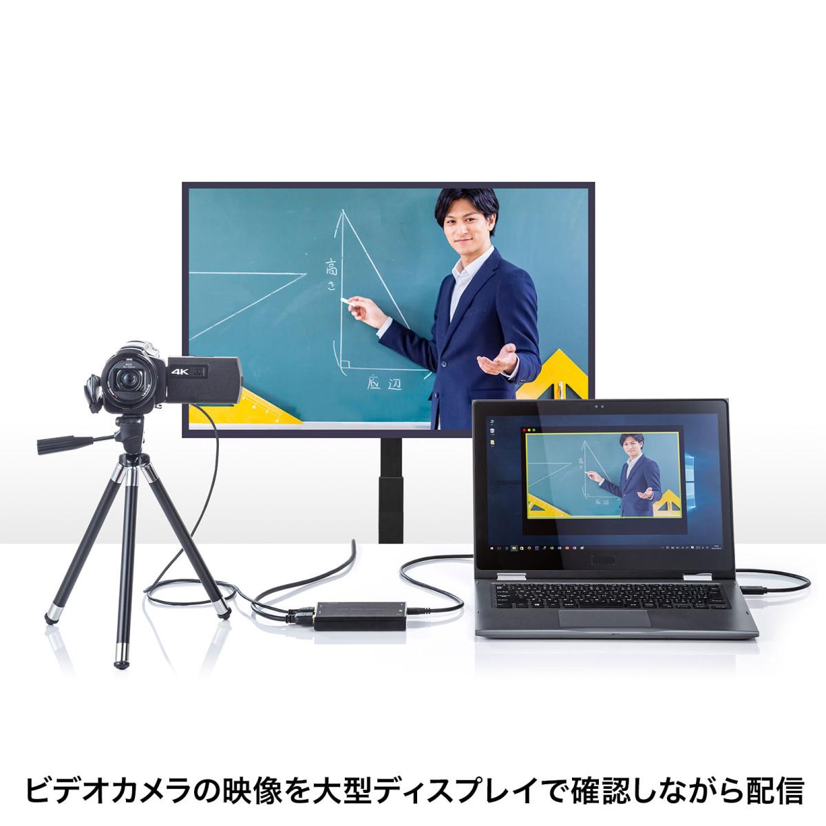 [USB-CVHDUVC3] HDMIキャプチャー(USB3.2 Gen1・4K パススルー出力付き)