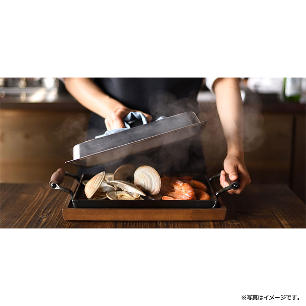 [OTS8111] 大人の鉄板 鉄板大 角蓋付き★