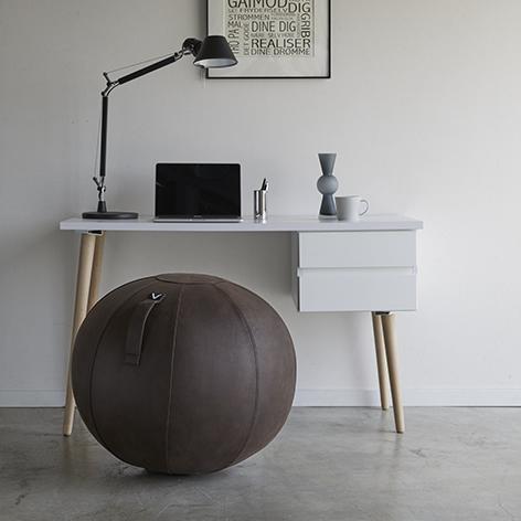 [0804] シーティングボール ルーノ レザーレット ブラウン バランスボール