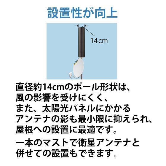 [U2CN-BB] 地上デジタル (地デジ) 放送用 UHFアンテナUNICORN(ユニコーン) ブラックブロンズ★