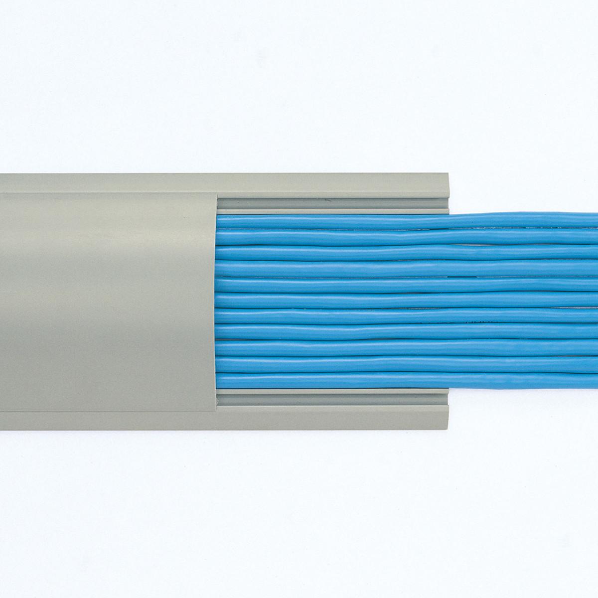 [CA-R90GY2] 【代引き不可】ケーブルカバー(グレー)W90xD2000mm