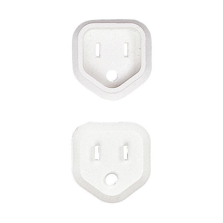 [TAP-PSC3N100] 3P電源プラグ安全カバー(ホワイト・100個入り)