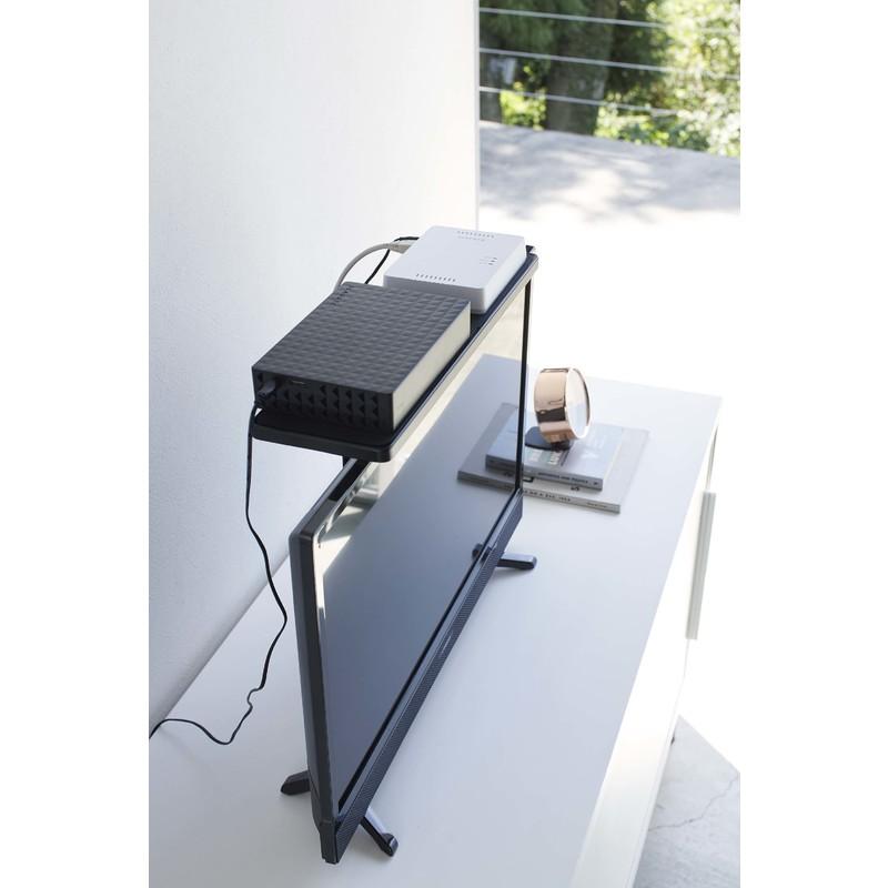 [04881-5R2] smart スマート テレビ上ラック ワイド40 ブラック 4881 収納 ハードディスク HDD ルーター ゲームコントローラ リモコン 棚 省スペース VESA★