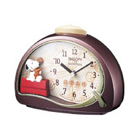 [4SE506MJ09] CHARACTER CLOCK 置時計 キャラクタークロック スヌーピーR506 クオーツ