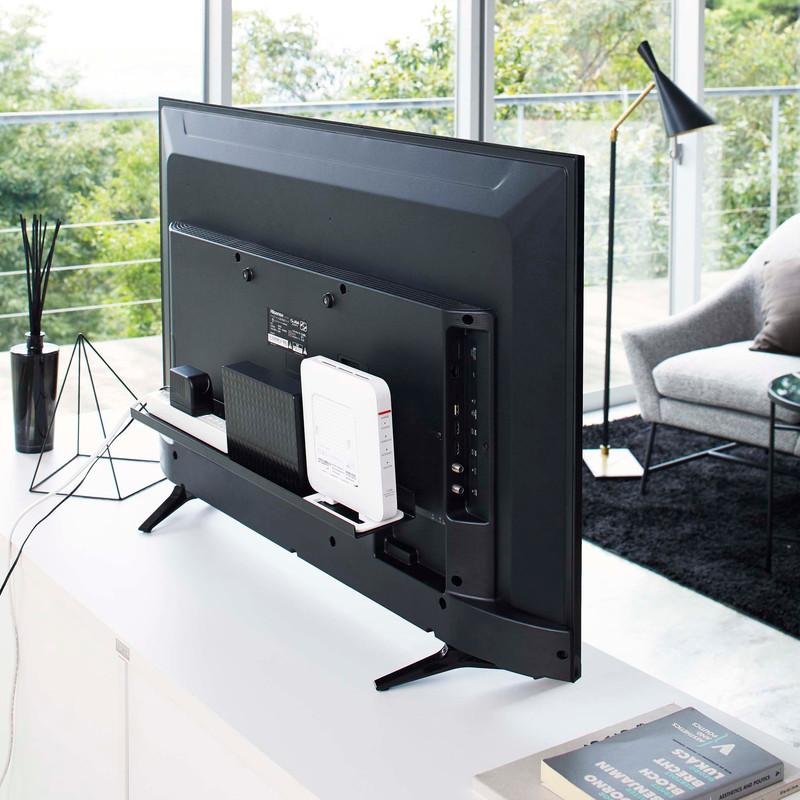 [04889-5R2] smart スマート テレビ裏ラック ワイド60 ブラック 4889 収納 ハードディスク HDD ルーター ゲームコントローラ 電源タップ 掃除道具 棚 省スペース VESA★