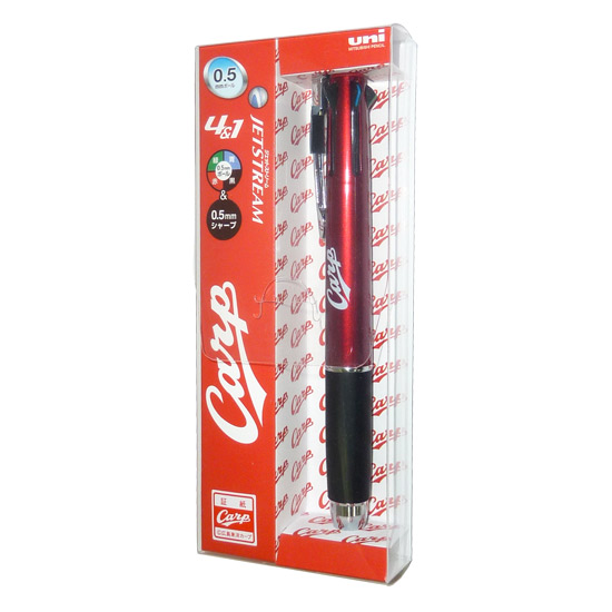 [4902778904008] ジェットストリーム4&1 (4色ボールペン+シャープペン(0.5mm)) 広島カープモデル(ボルドー)