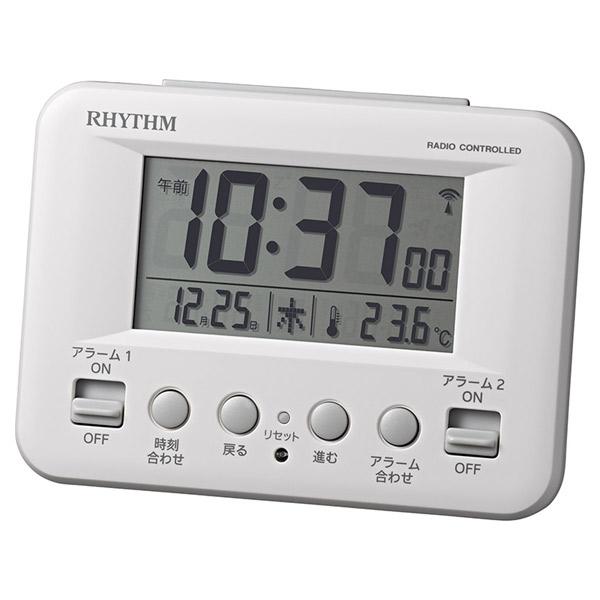 [8RZ191SR03] 電波めざまし時計 フィットウェーブD191 白