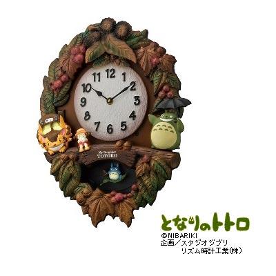 [4MJ429-M06] クオーツ掛時計 トトロM429