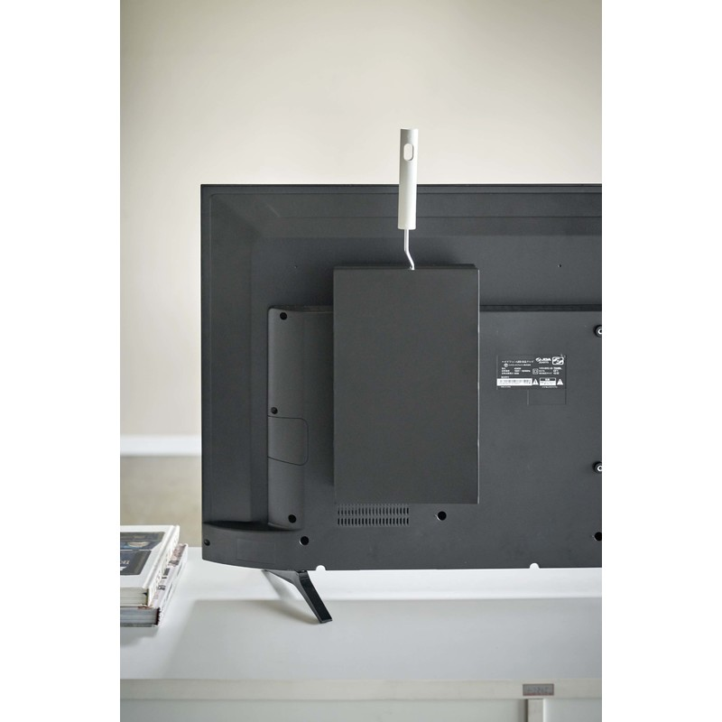 [04990-5R2] smart スマート テレビ裏カーペットクリーナースタンド ブラック 4990 収納 掃除道具 スペアテープ 省スペース VESA★