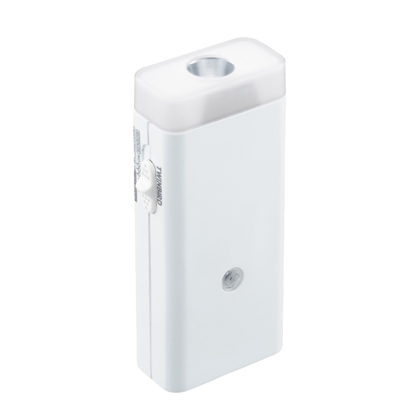 [LS-8558W] 停電センサーLEDサーチライト/ナイトライト付 ホワイト