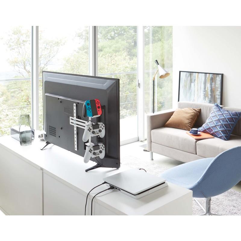 [05090-5R2] smart スマート テレビ裏ゲームコントローラー収納ラック ホワイト 5090 ヘッドホン 省スペース VESA★