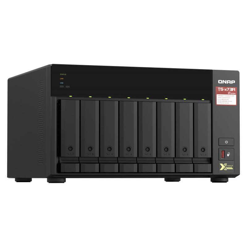 [TS-873A-8G] 8ベイNAS Ryzen V1500B 2.2GHz メモリ8G搭載