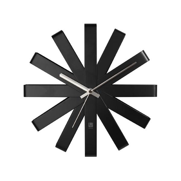 [2118070040] リボン ウォールクロック ブラック