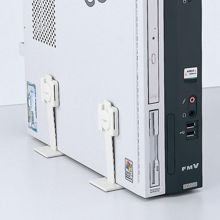 [QL-59] 耐震ストッパー(地震対策、T型、4組、パソコン・ディスプレイ・精密機器・医療機器等の転倒落下事故を防止)