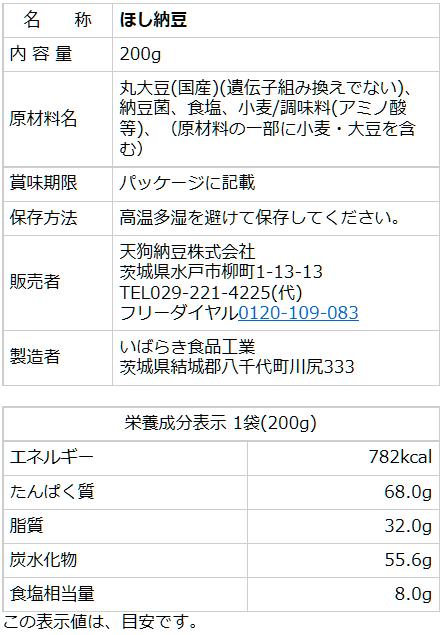 国産大豆ほし納豆 200g
