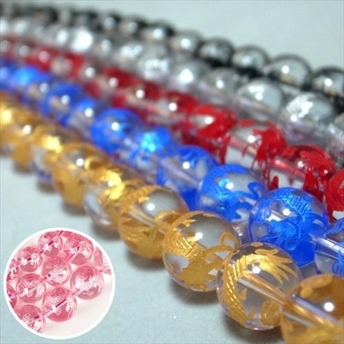 彫刻青龍水晶 一連 大集合♪(φ8-20mm) 連売り 素材 パーツ 丸玉