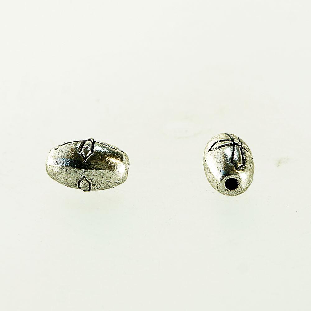 クロススペーサー  5.8×9.4mm 10点入り アンティークシルバー(銀古美)真鍮 素材 アクセサリーパーツ
