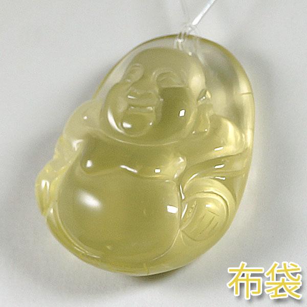 レモンクォーツ・水晶彫刻 観音様・布袋様(大)