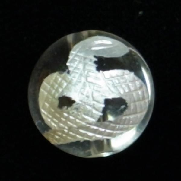 手彫り【白蛇】水晶(10mm-14mm)丸玉穴有り♪★粒売り★