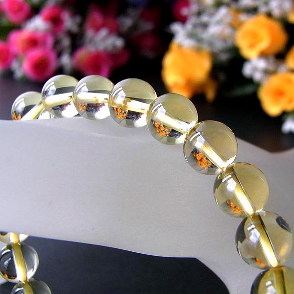 ☆復活・実り・収穫☆ 天然 レモンクォーツ (φ8mm) ブレスレット