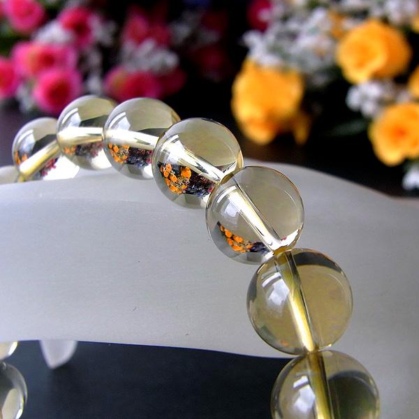 ☆復活・実り・収穫☆ 天然 レモンクォーツ (φ10mm) ブレスレット