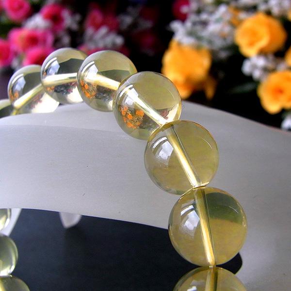 ☆復活・実り・収穫☆ 天然 レモンクォーツ (φ12mm) ブレスレット