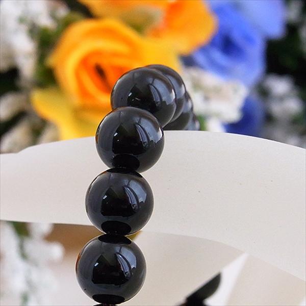 10月の誕生石★最高級3Aブラックトルマリン(黒♪電気石)(8mm) ブレスレット