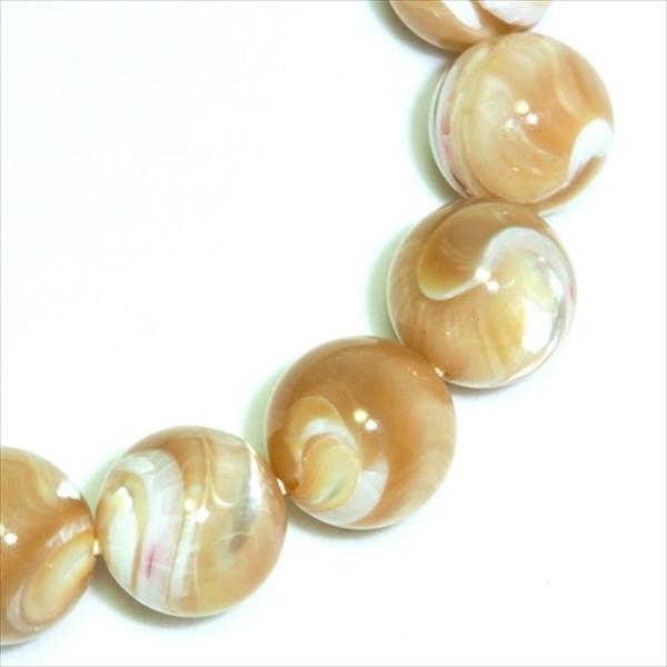 白蝶貝マザーオブパール ベージュ(12mm)ブレスレット