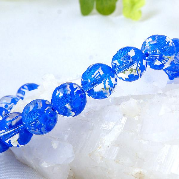 手彫り〈藍龍〉水晶(10mm)ブレスレット