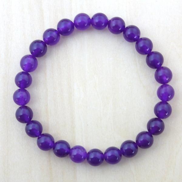 ★紫の輝・パープルカルセドニー(紫玉髄)(8mm)ブレスレット