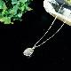 ナミビア産 ギベオン隕石 ペンダント ネックレス 14×10mm プラチナ仕上げ sv925 ベネチアンチェーン付き