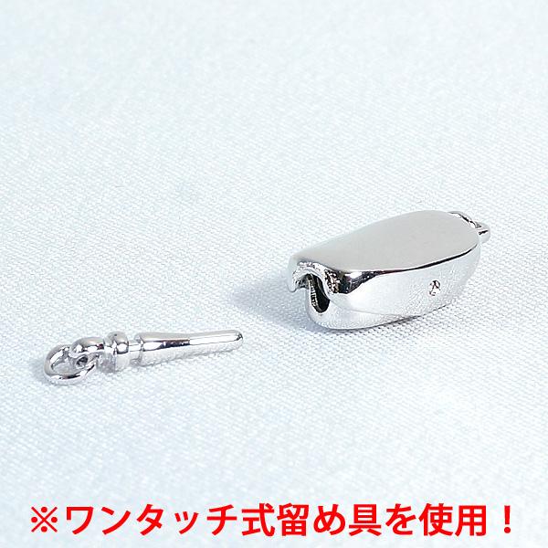 マラカイト(孔雀石)ネックレス(リーフ) ワンタッチ式留め具
